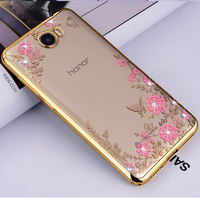 luxury phone Diamond transparent soft tpu silicon silicone cases,coque,cover,case for huawei y5 ii y5II 2 gr5 mini accessories
