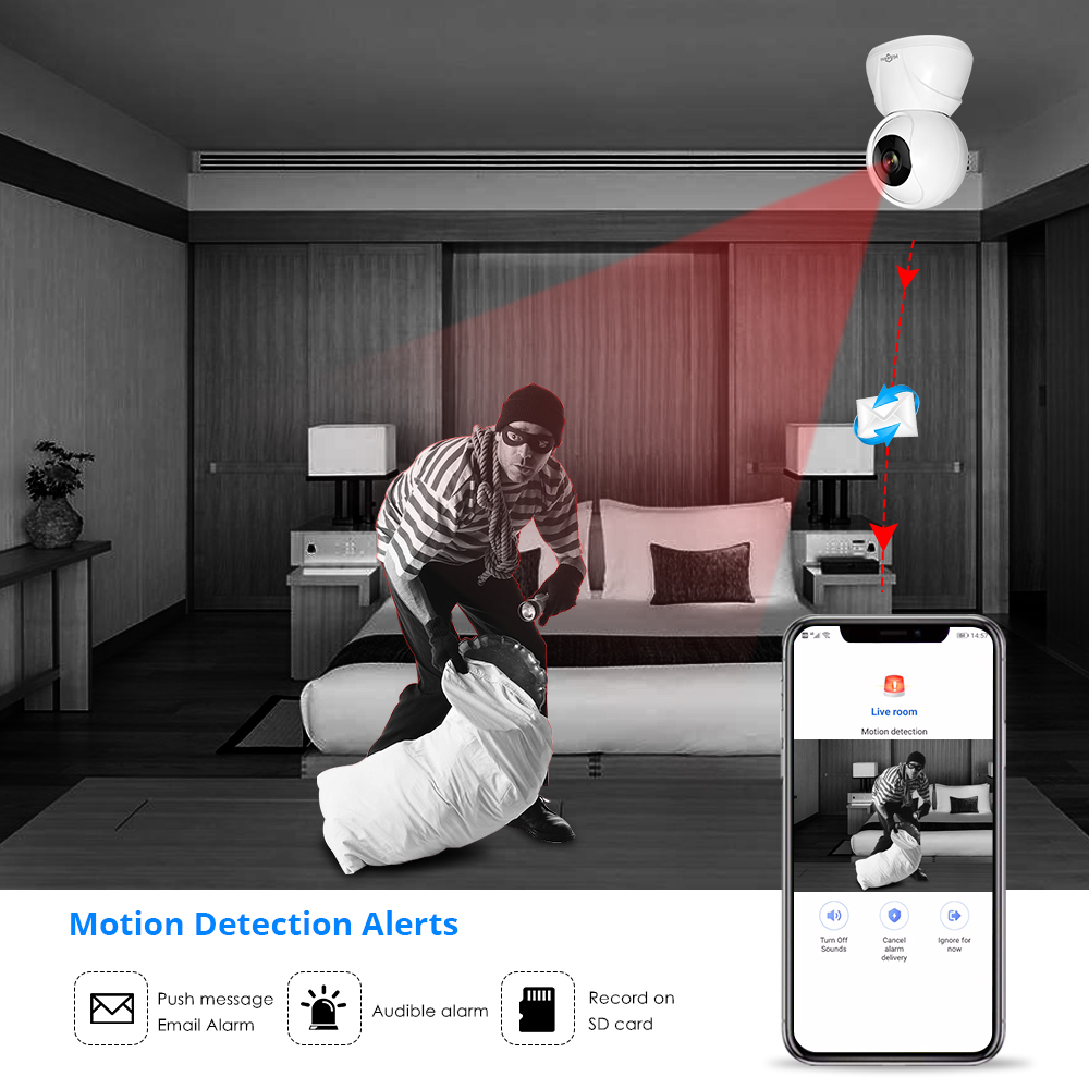 Hiseeu FH3 1080 마력 홈 보안 IP 카메라 무선 스마트 - 보안 및 보호 - 사진 4