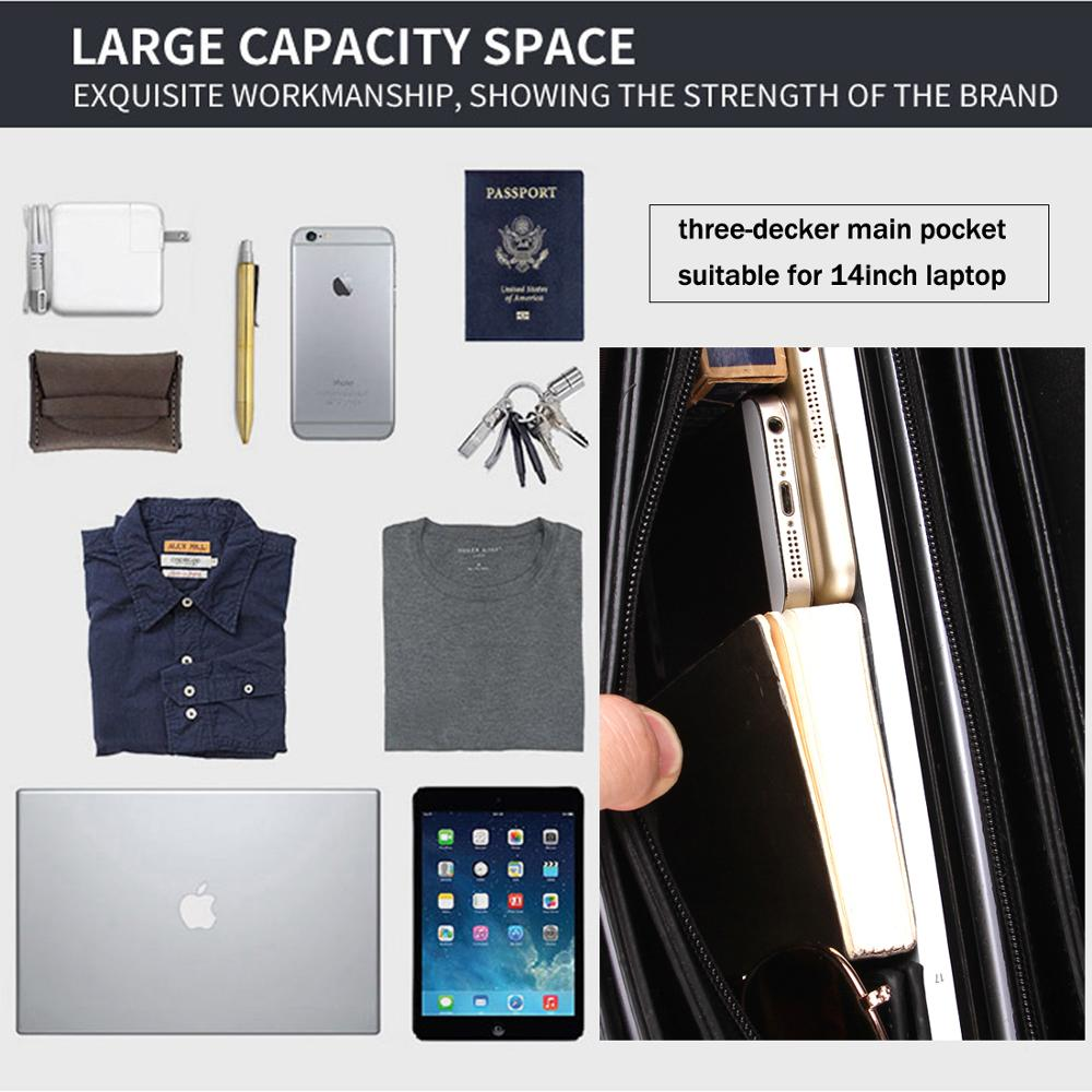 Image 5 - VICUNA POLO Luxury Business Mens Briefcase With Code Lock High Quality OL Business Man Bag Italy Brand pasta executiva masculino-in Briefcases from Luggage & Bags