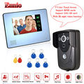 "Free Shipping!ENNIO 7"" Touch Screen Video Door Phone w/PIR Record intercom RFID Keyfob IR Cam"