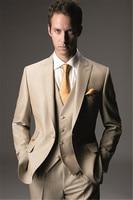 2019 Latest Coat Pant Designs Champagne Classic Men Suit Skinny Tuxedo Prom Blazer Masculino Custom Made 3Piece Jacket men suits