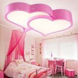 Kreatywny w kształcie serca doprowadziły sufitu światła romantyczne światła w sypialni sala weselna lampa gabinet dzieci lampa sufitowa 110-240V