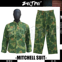 WWII US ARMY AMERICAN MITCHELL CAMOUGLAGE SUITS UNIFORME HIGH QUALITY COSPLAY TOPS & PANTS ARMY GREEN US/501106