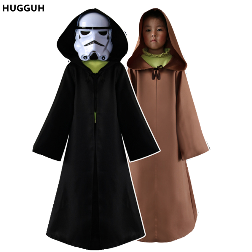 New Arrival Polyester Children Halloween Cosplay Star War Darth Vader Costume Unisex Cloak High Quality Occident