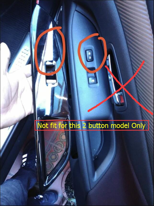 Lapetus Car Window Lift Switch Button Decoration Frame Cover Trim 4 Pcs Set Fit For Mitsubishi Outlander 2015 2016 2017 ABS in Interior Mouldings from Automobiles Motorcycles