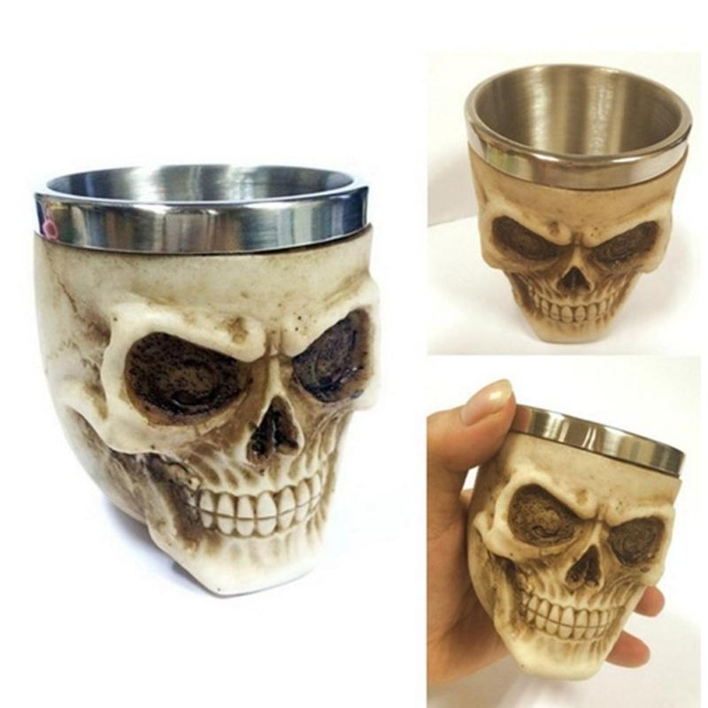 halloween party Skull Tankard 3D mugs gift Coffee Beer Cup