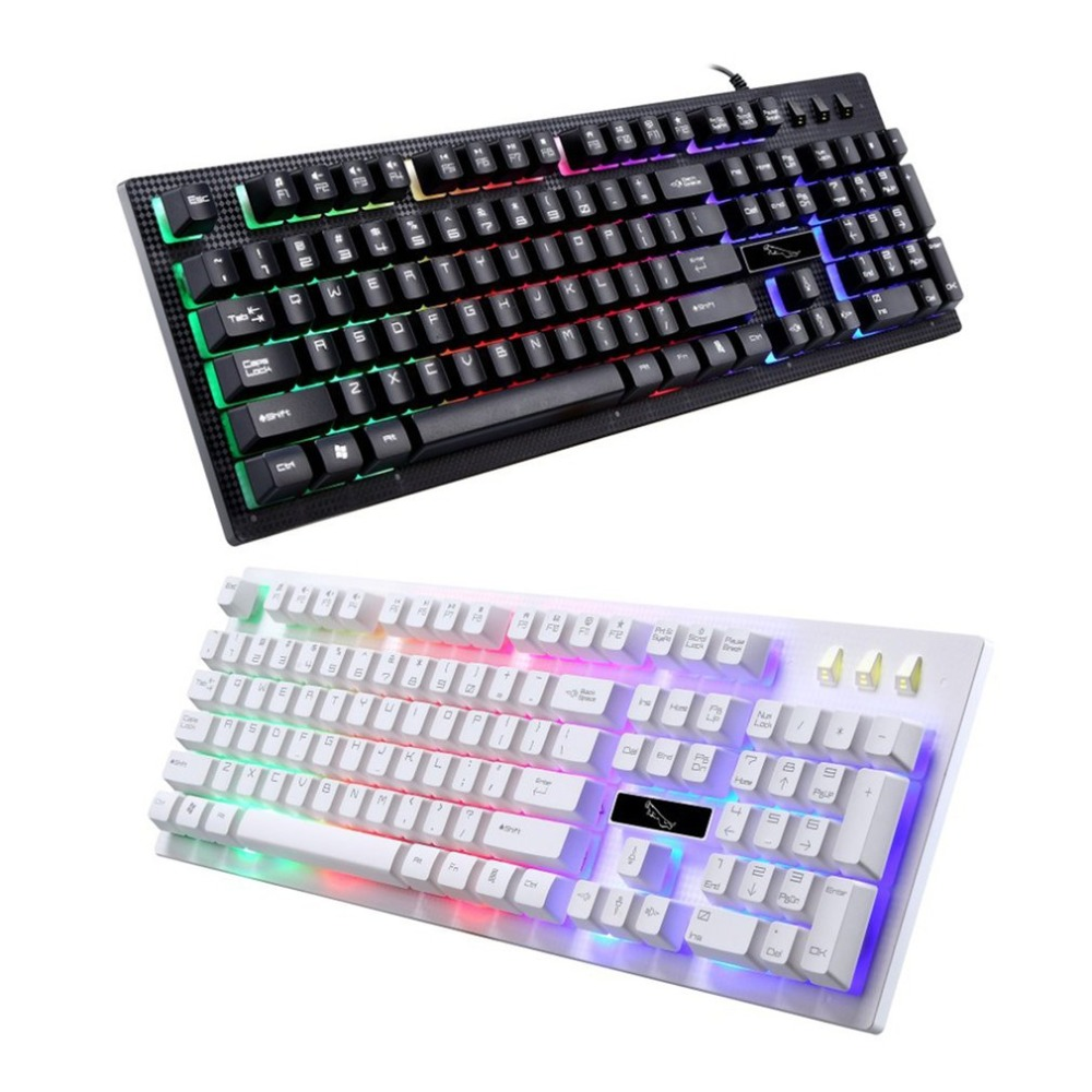 Wired-Gaming-Keyboard Ergonomic Laptop Comfortable Pro-Gamer Backlight USB PC 114-Keys