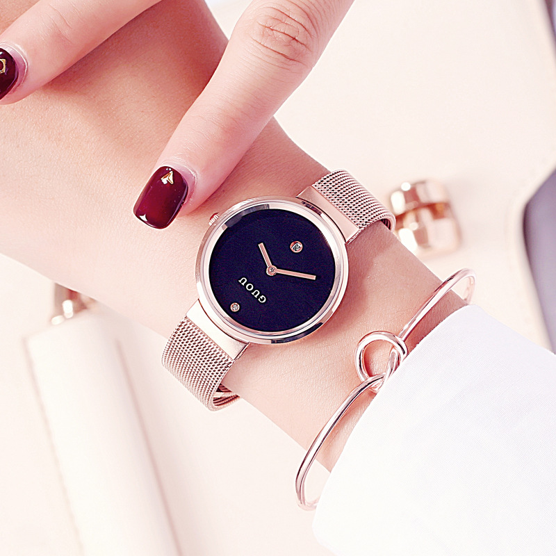 GUOU Brand Luxury Women Watches Reloj Mujer Ladies Fashion Casual Quartz Watch Female Jewelry Clock Relogio Feminino 2018 julius luxury brand women watch fashion rose gold watches women fashion casual quartz ladies wristwatch reloj mujer clock female