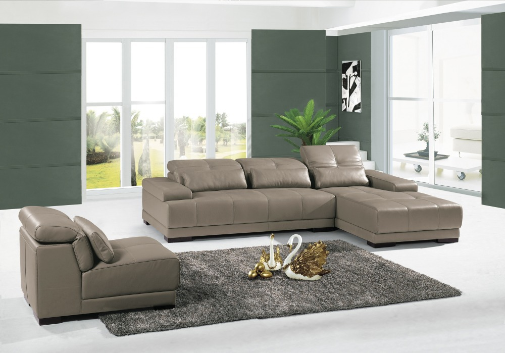 Living Room Couch Set #33: Aliexpress.com : Buy Cow Genuine Leather Sofa Set Living Room Furniture Couch Sofas Living Room Sofa Sectional/corner Sofa Shipping To Port From Reliable ...