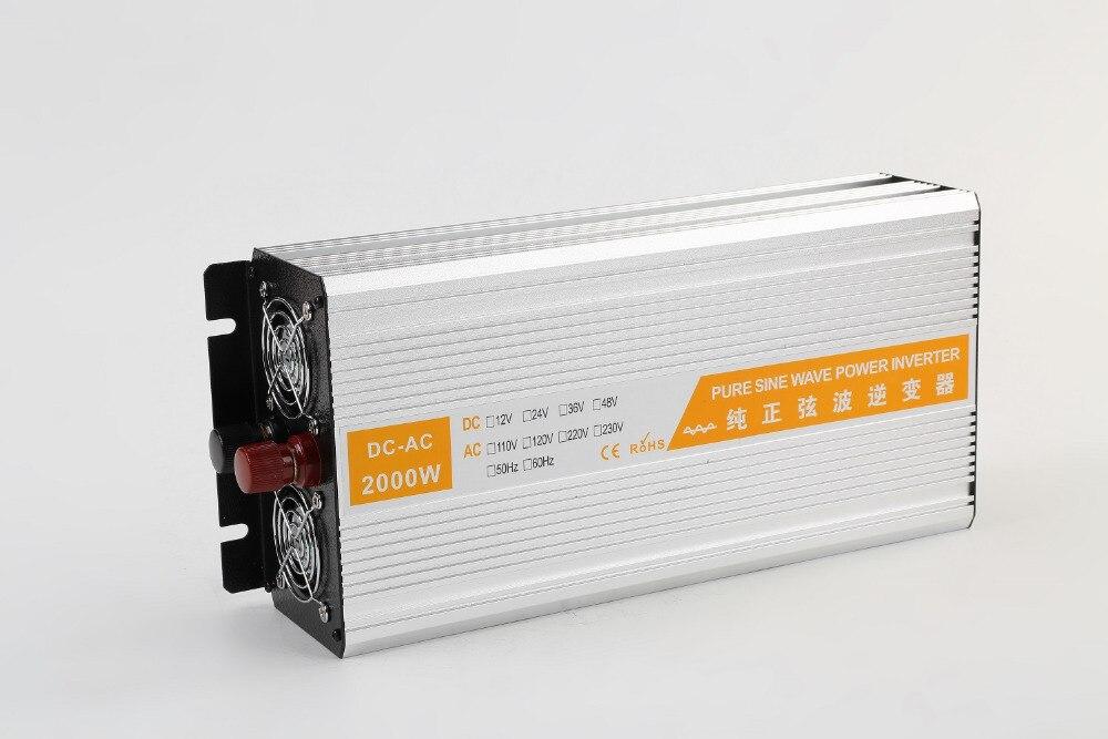цена на dual digital display 2kw 2000w 12V/24V/48V DC input TO 110V/120V/220V AC output 50HZ/60HZ Pure Sine Wave power Inverter