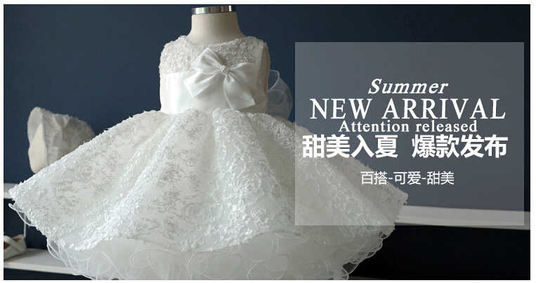 9828631b3 ... Noble white bow baptism christening gown,New born baby girls/infant  princess Tutu birthday ...