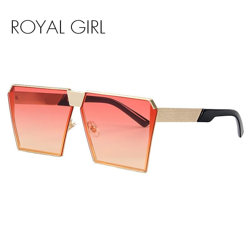 2757b9b975 ROYAL CHICA 2017 Nuevo de Las Mujeres de Color gafas de Sol UV400 Gradient  Escudo Vintage marcos de las lentes de Gran Tamaño Único para Las Mujeres #  ss953 ...