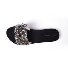 Women Sandals Flips Flops 2018 Summer Style Shoes Woman Wedges Sandals Fashion Rivet Crystal Platform Female Slides Ladies Shoes