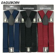 2020 szelki męskie szelki dla kobiet spodnie jeansowe spodnie z klipsem szelki elastyczne szelki czarna biała odzież akcesoria tanie tanio EAGLEBORN Poliester Dla dorosłych Moda DM-DKD-bandian 3 5*120cm Strong Black Dark blue Dark red Spot Metal + non-slip