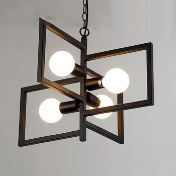 Loft industrial lustres luzes design moderno e minimalista lustre pendurado na sala de estar/restaurante/bar e27 lâmpadas 110-240 v