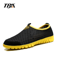 2017 TBA men's shoes breathable lazy sports shoes shoes mesh simple men's net slip-on Sneakers Lightweight running shoes T5958