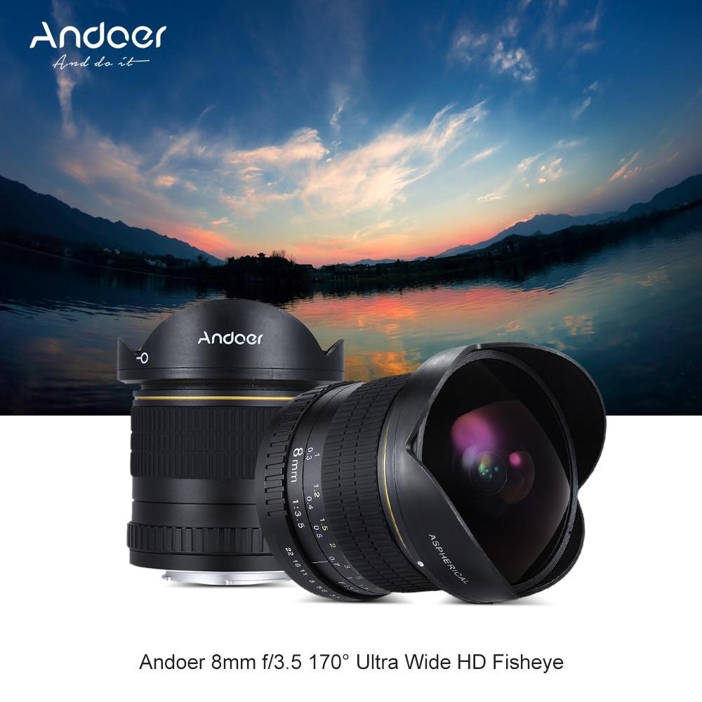 Andoer 8mm F/3.5 170 Ultra Wide HD Fisheye Aspherical Circular Lens ...