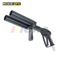 New arrival two head CO2 DJ Gun stage CO2 Jet Machine handheld CO2 Gun Stage Smoke Fogger CO2 Pistol Gun For Night Club