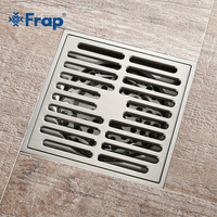 Frap Bathroom drain Brass Square Shower room Floor Drain Trap Waste Grate With Hair Strainer anti smelly drains 10cm*10cm Y38108