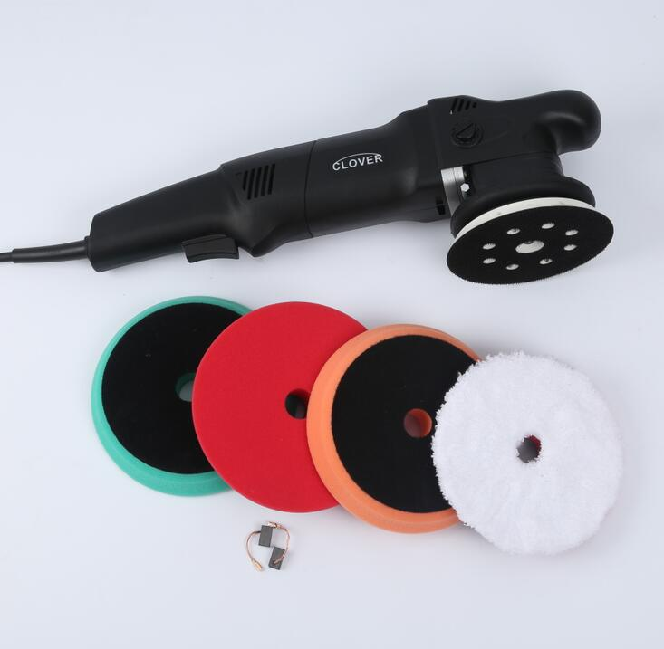 CLOVER 15mm or 21mm Dual Action Polisher with 5 and 6 backing pads and 6 foam