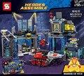 2016 Новый SY513 Super Hero Мстители Бэтмен Kurse Batcave Модель Строительство Комплект Блоки Кирпич Игрушки Совместимые Подарок 6860