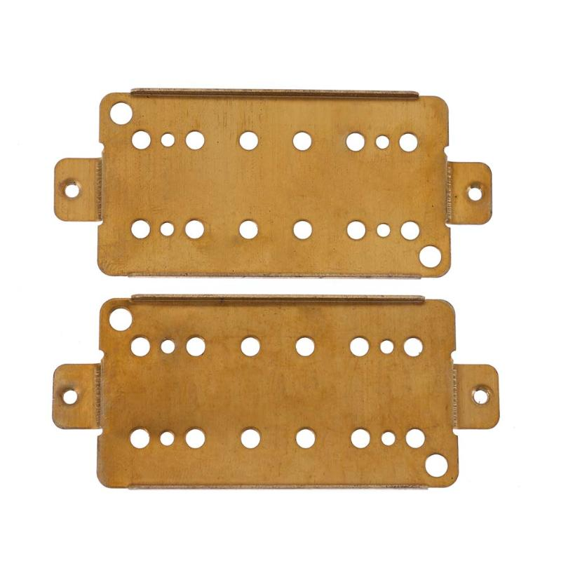 Guitar Parts & Accessories 2pcs Acoustic Guitar Brass Humbucker Pickup Baseplates for Electric Guitar (50mm+52mm) guitar pickup humbucker gold double coil pickups electric guitar parts accessories bridge