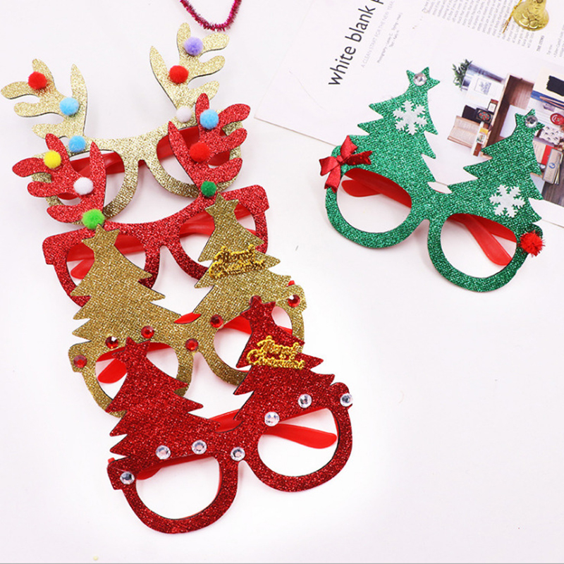 1500Pcs Christmas Decorations For Home Decor New Year Glasses Gifts For Children Santa Claus Deer Snowman Christmas Ornaments-in Pendant & Drop Ornaments from Home & Garden    1