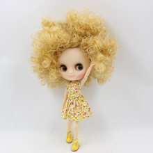 Factory Middie Blythe Doll Golden Curly Hair 20cm
