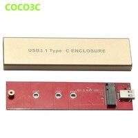 USB 3.1 Type C M.2 SSD enclosure 10Gb USB C to NGFF B+M Key SATA External Mobile Box for 2015 2016 Macbook