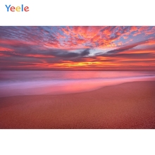 Yeele Colorful Cloud Photography Backdrops Wedding For Photo Studio Beach Seaside Scenery Customized Photographic Backgrounds