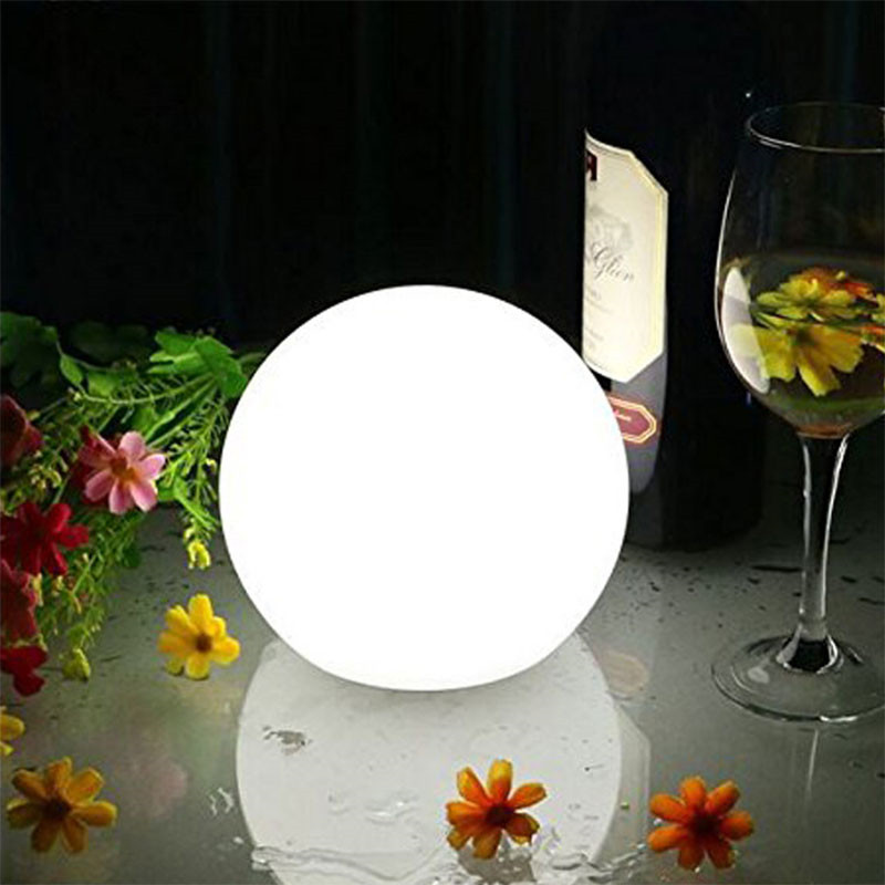 USB Rechargeable Led Moon light outdoor waterproof garden solar light lawn lamp 16Colors remote control ball light