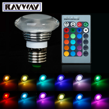 New 16 Colors E27 Changing LED RGB Crystal Light Bulb Lamp With Remote Control Free Shipping