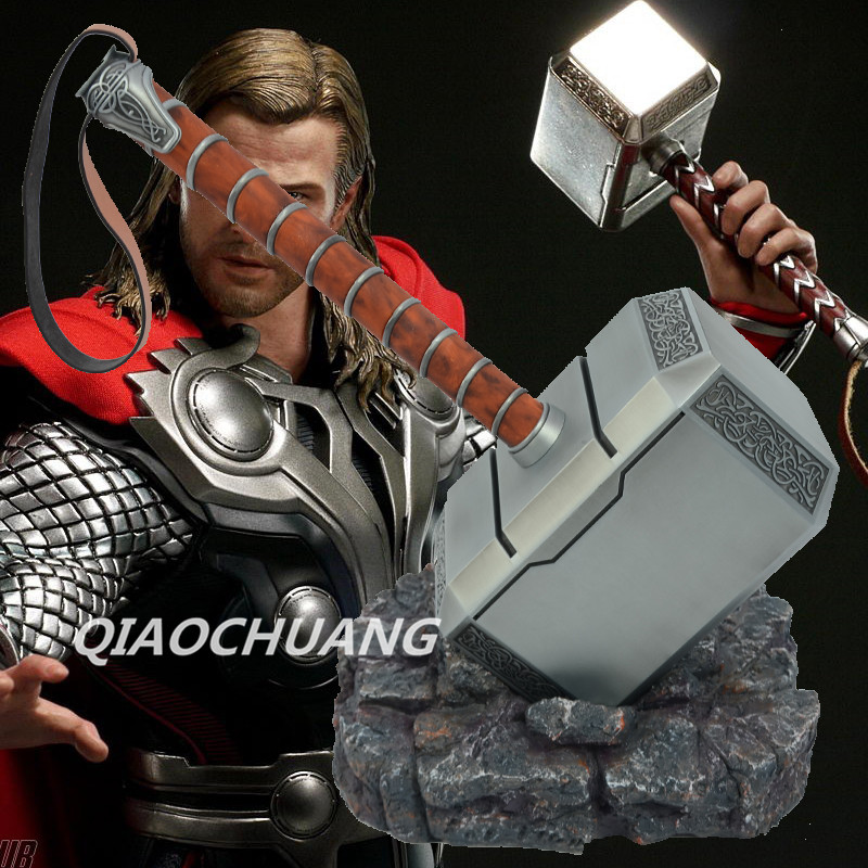 Avengers Weapon Superhero Thor Hammer Full Metal 1:1 Mjolnir Cosplay Hammer Thor Odinson Quake MARTILLO Collection Model Toy model fans hcmy quake 1 to 1 all metal