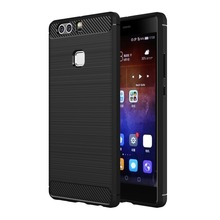 P9 Lite Phone Cover For Huawei Plus / P8 Brushed Texture Fiber TPU Rugged Armor Protective Case for Mate 8