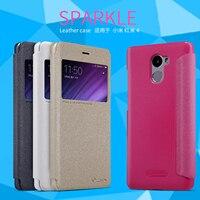Nillkin Sparkle Fashion Smart Window PU Leather Case For Xiaomi Redmi 4 Flip Cover For Xiaomi