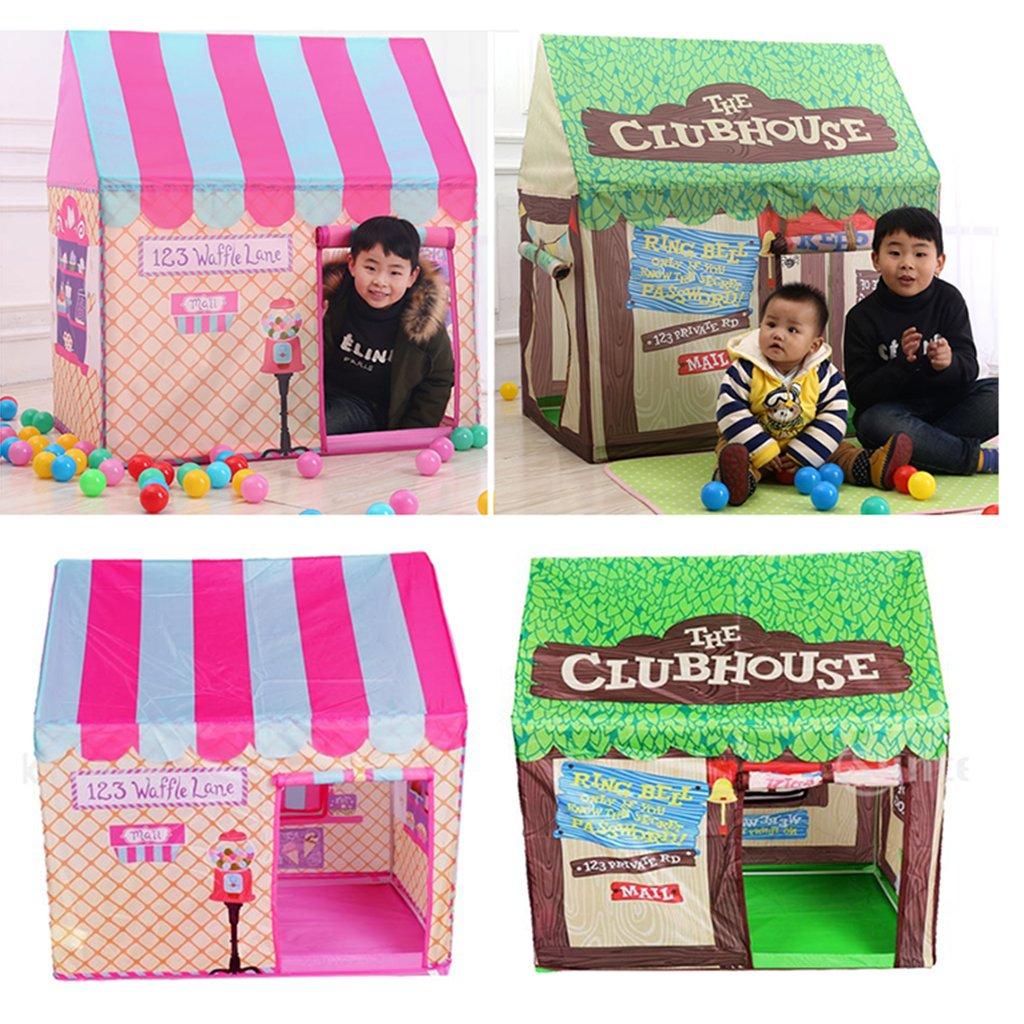 Crème glacée gâteau boutique Clubhouse enfants jouer tente enfants jouer maison jouet jeu tentes pour bambin anniversaire fêtes intérieur extérieur Fun