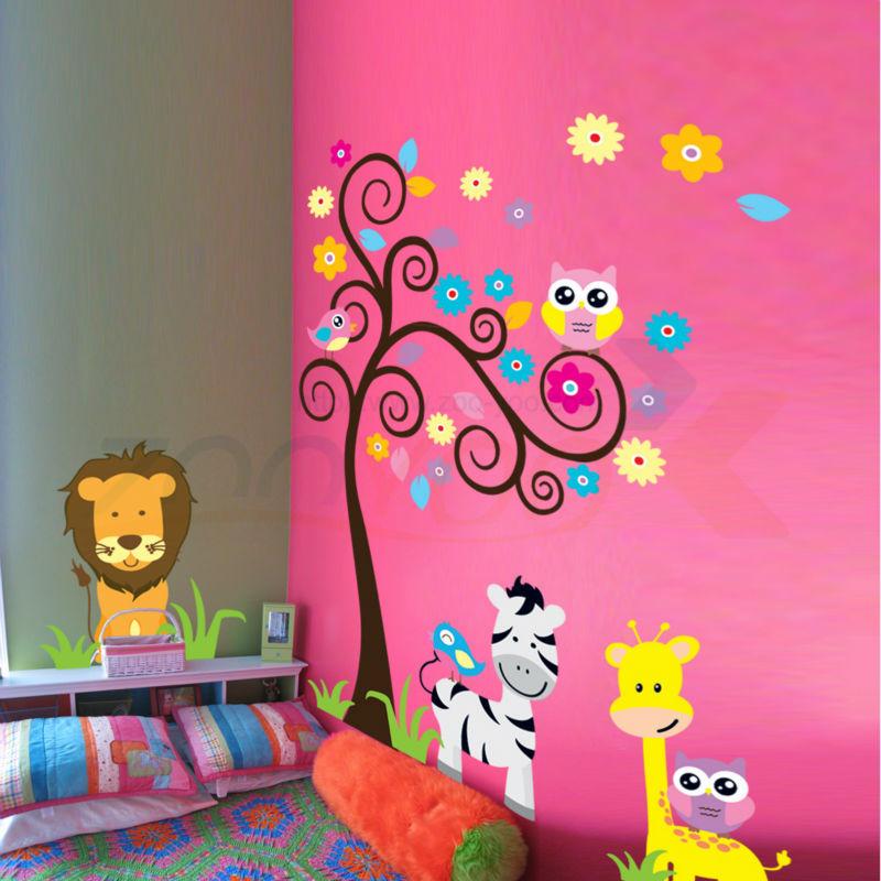 Compra preescolar decoraci n de la pared online al por for Murales decorativos para bebes