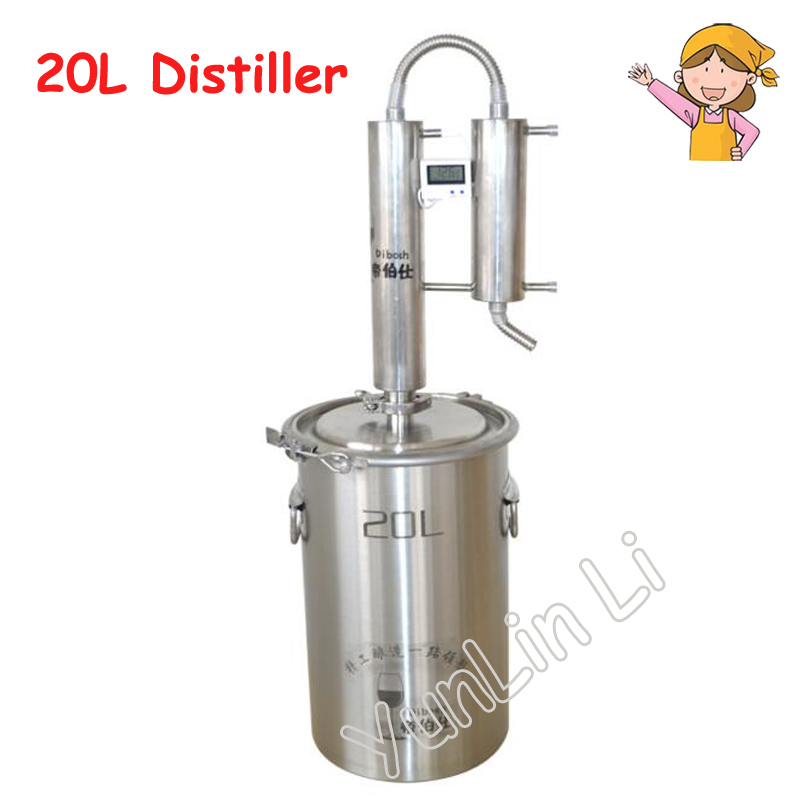 20L Moonshine Distiller Copper 304 Stainless Steel Cooling Coil Alcohol Home Wine Making Whisky Brandy Distiller20L Moonshine Distiller Copper 304 Stainless Steel Cooling Coil Alcohol Home Wine Making Whisky Brandy Distiller
