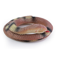 110cm Novelty And Gag Simulation Rubber Snake Funny Toy Halloween Gifts Toys For Children Boys Free