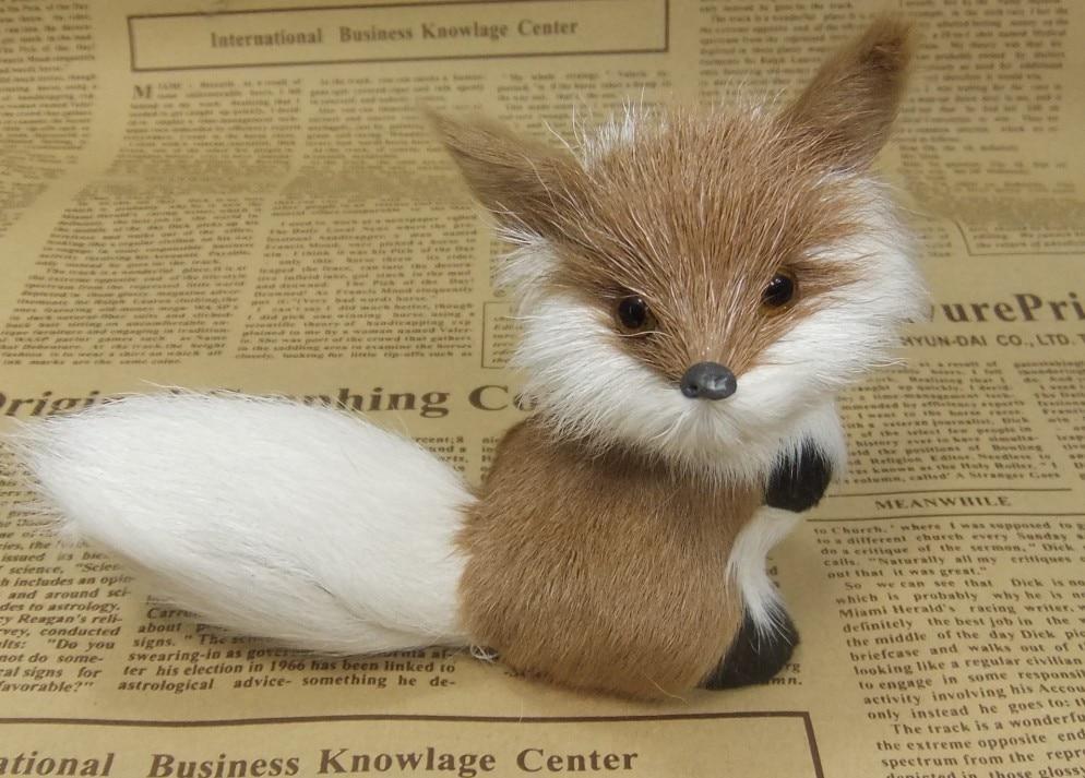 simulacija životinja 8 cm lisica model igračka polietilena i krzna - Kućni dekor