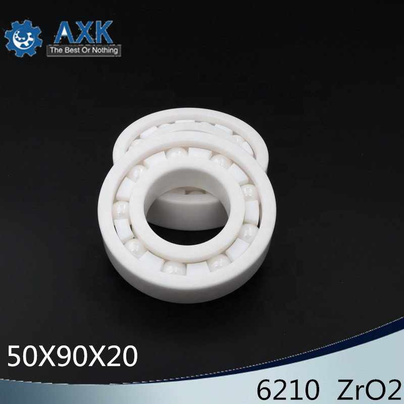 6210 Full Ceramic Bearing ( 1 PC ) 50*90*20 mm ZrO2 Material 6210CE All Zirconia Ceramic Ball Bearings6210 Full Ceramic Bearing ( 1 PC ) 50*90*20 mm ZrO2 Material 6210CE All Zirconia Ceramic Ball Bearings