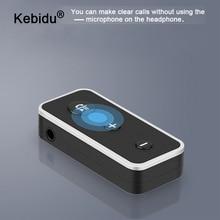 kebidu Bluetooth 5.0 Audio Receiver Real Stereo Speaker Handsfree Audio Receiver Bluetooth Adapter Wireless Aux 3.5mm Jack BT510