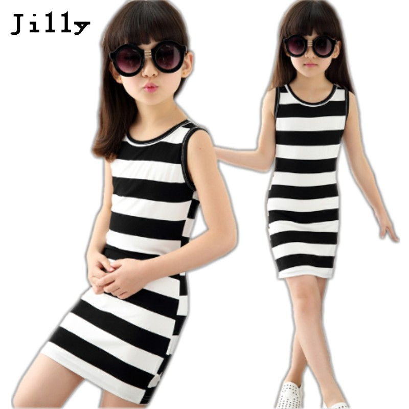 White Girl Fashion: Children Girls' Clothing Black And White Stripes Summer