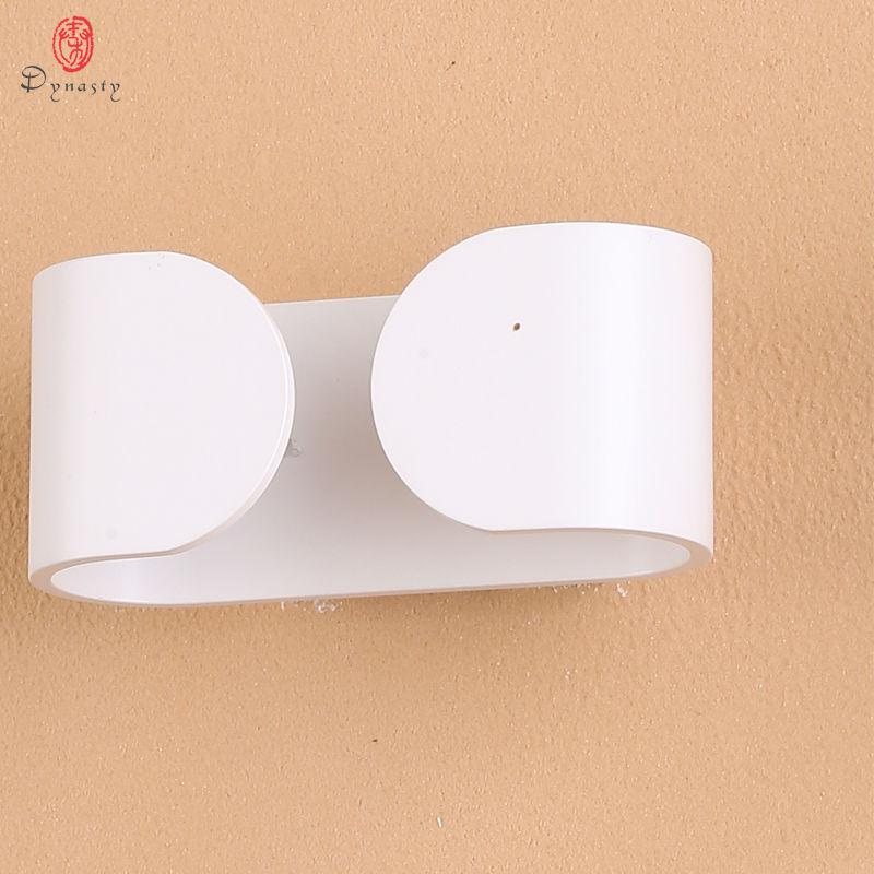 Δυναστεία αλουμινίου LED Μοντέρνο φωτιστικό τοίχου Φωτιστικό τοίχου εσωτερικού χώρου AC85V-265V Φουαγιέ Διάδρομος Τραπεζαρία Εστία Κουζίνα