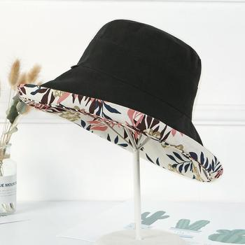 SUOGRY Printed Floral Fisherman Bucket Hat Summer Women Wide Brim FishingWaterproof Sun Hats uv Protection Basin Cap Foldable toddler girls bucket cap summer floral hats holow out wide brim lace floral sun hat for children caps