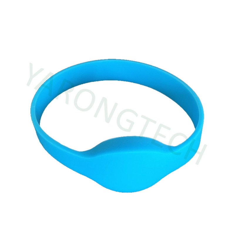 13.56MHZ ISO14443A 1K Blue NFC Silicone Rfid Wristband -100pcs