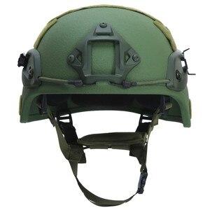 Image 2 - Paintball airsoft balístico capacetes de proteção mich 2000 nij iiia aramid cabeça à prova de balas capacete proteção para a caça airsoft