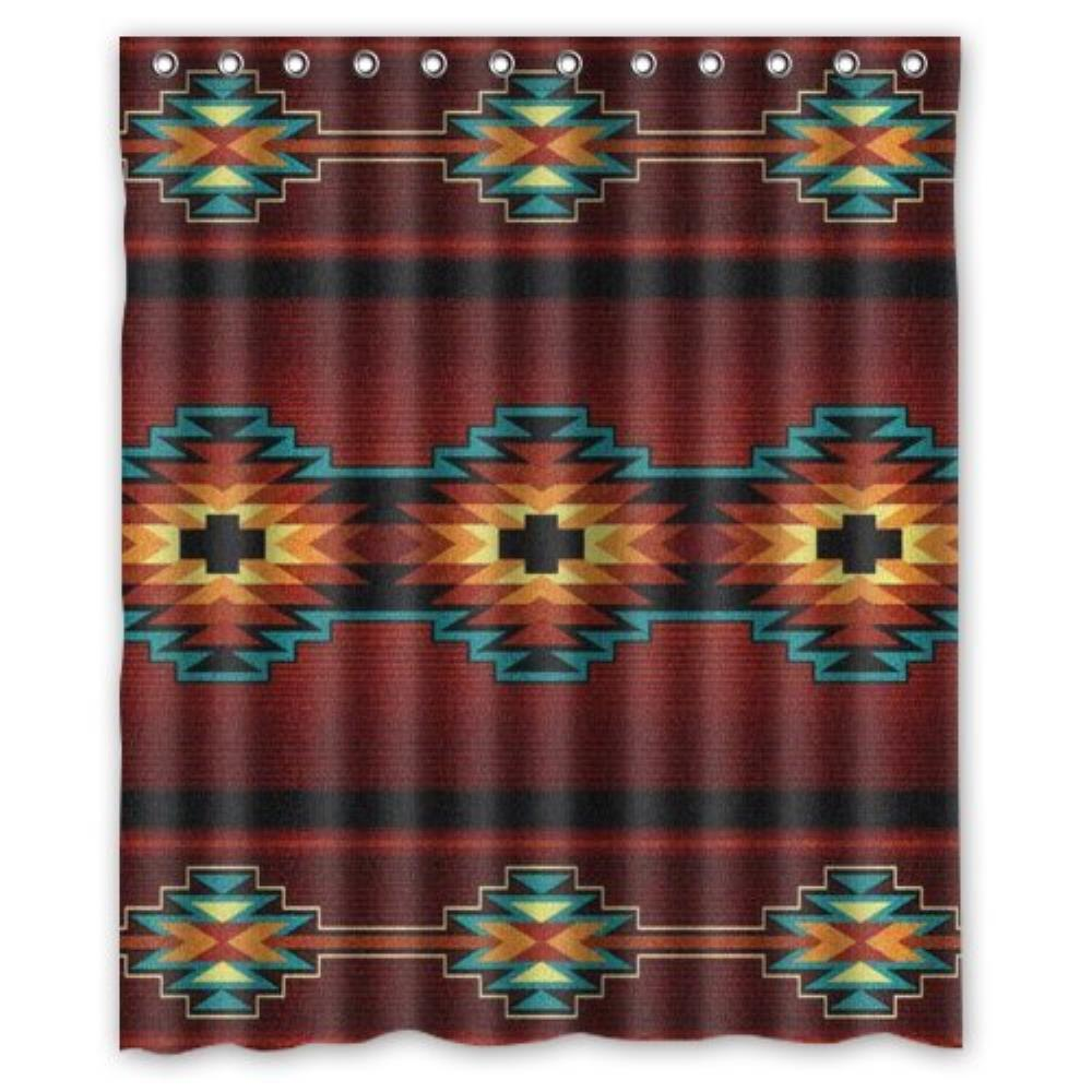 Best Home Choice Southwest Native American Polyester Bathroom Custom Shower Curtain Bathroom Decor Polyester Shower Curtain