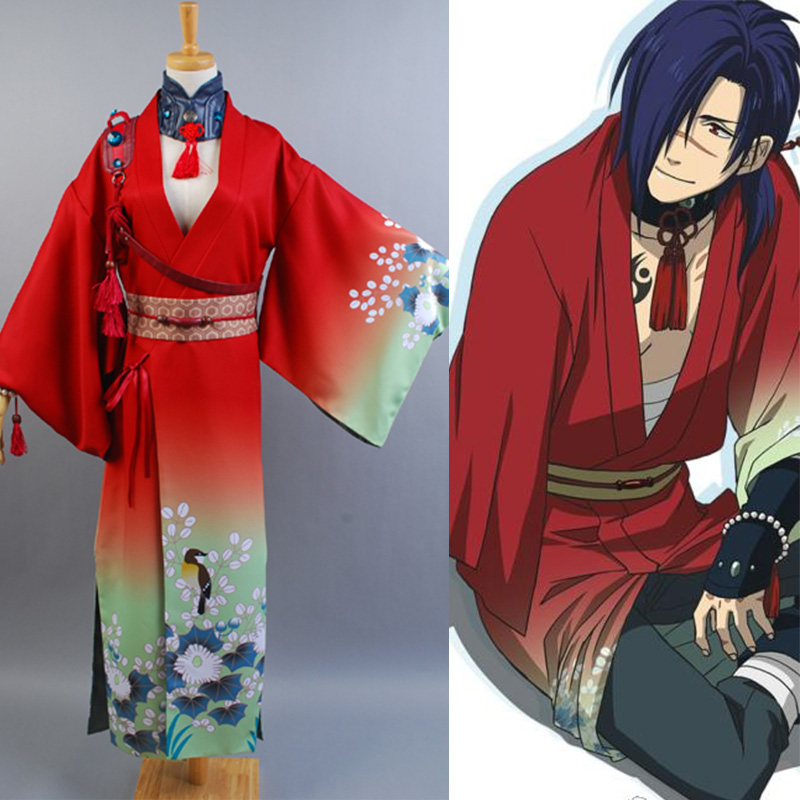 DMMD DRAMAtical Murder Koujaku Kimono Cosplay Costume Halloween Carnival Full Set