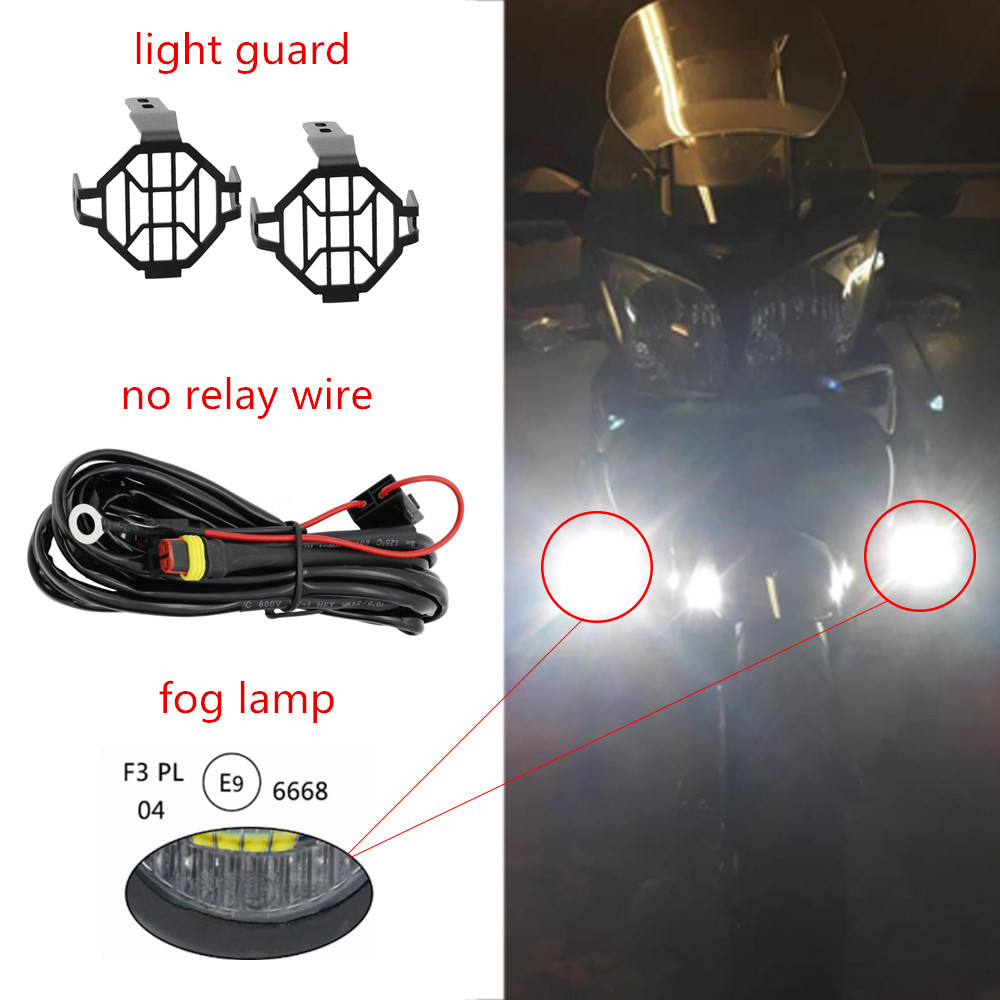 Motocycle Fog Lights For Bmw Motorcycle Led Auxiliary Light Wiring Jeep R1200gs Front Brackets Driving R 1200 Gs Adventure Lc